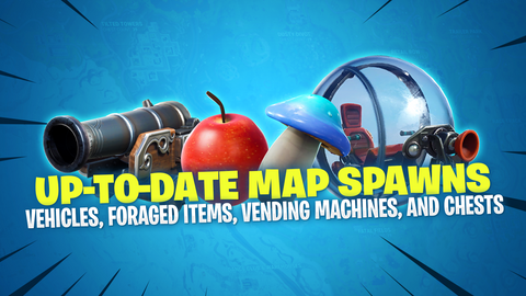 fortnite up to date chest vehicle foraged items vending machine and volcanic vents spawns fortnitemaster com - all fortnite vending machines